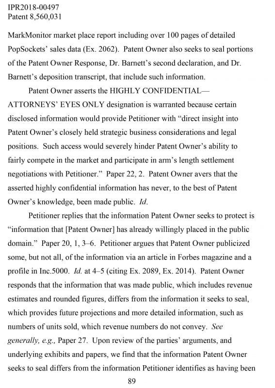 pop socket patent troubles