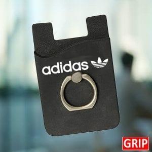 Black Silicone-Card-Holder-Wallet-Phone-Custom-Phone-Holder