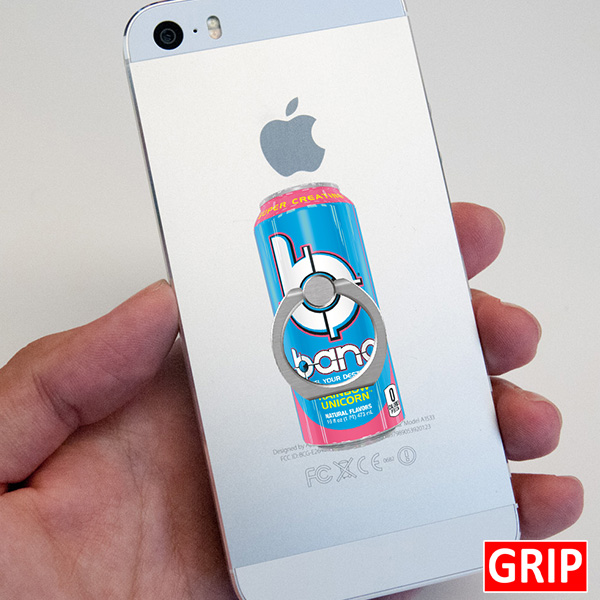 Bang Energy Drink Phone stand. Custom acrylic ring phone holder promotional 2d giveaway