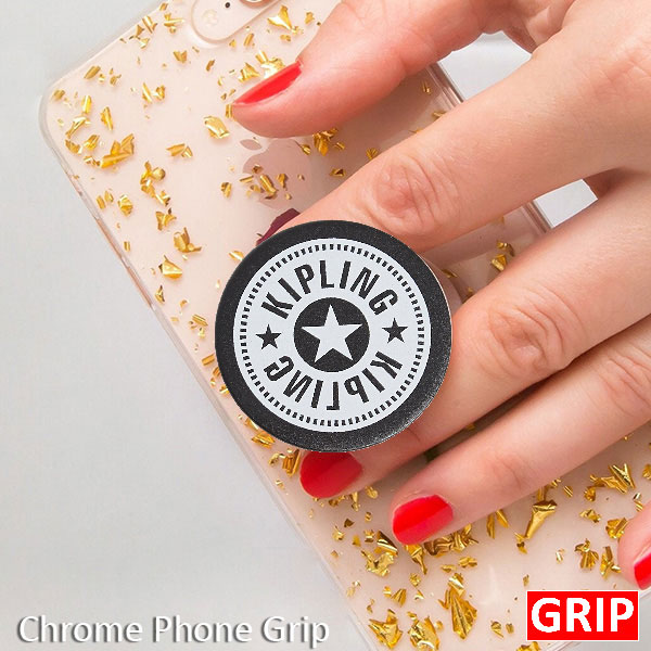 Black metal chrome pop phone sockets for promotional product