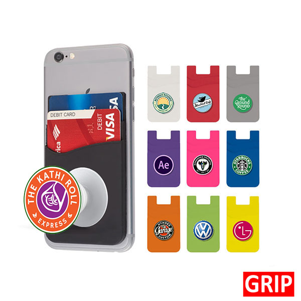 pop phone socket wallet silicone promotional marketing giveaway