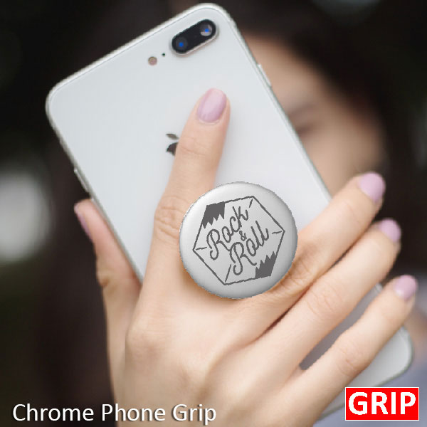 Silver Grey metal chrome pop phone sockets for promotional product