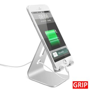 silver metal aluminum adjustable desktop smartphone stand lamicall